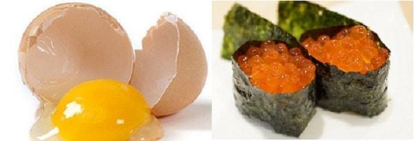 ไข่ไก่ ไข่ปลา