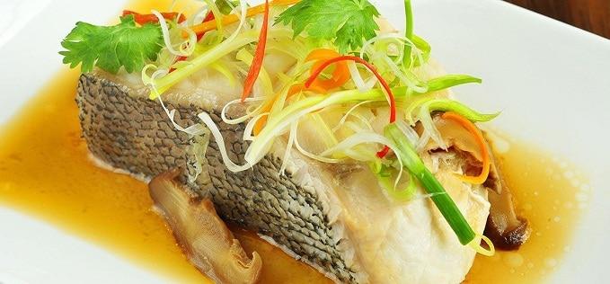 ปลานึ่ง อาหารโต๊ะจีน