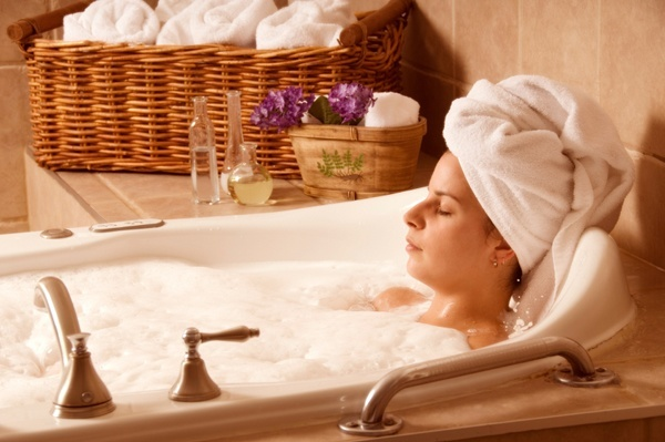 อาบน้ำอุ่นก่อนนอน
